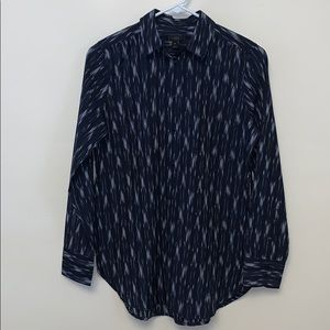 J. Crew abstract print collared cotton shirt